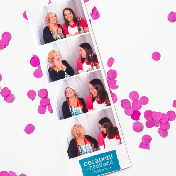 Lisa and Mindy hamming it up in the photo booth