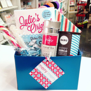 A sweet treat gift box for your gluten free friends! Of course Julie's Original mix is so good even gluten eaters will love it!