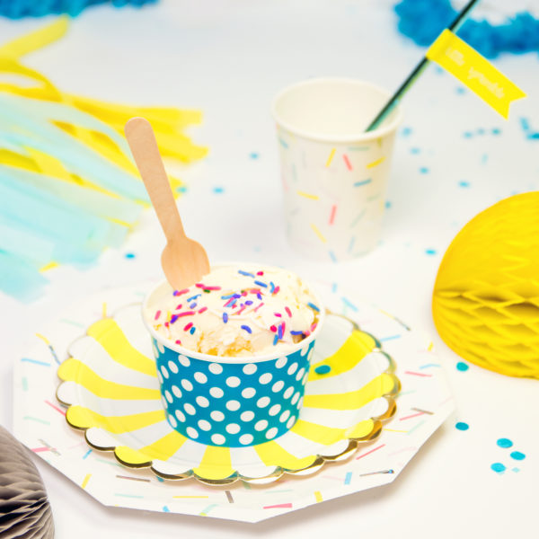 polka dot ice cream cups | fancy that
