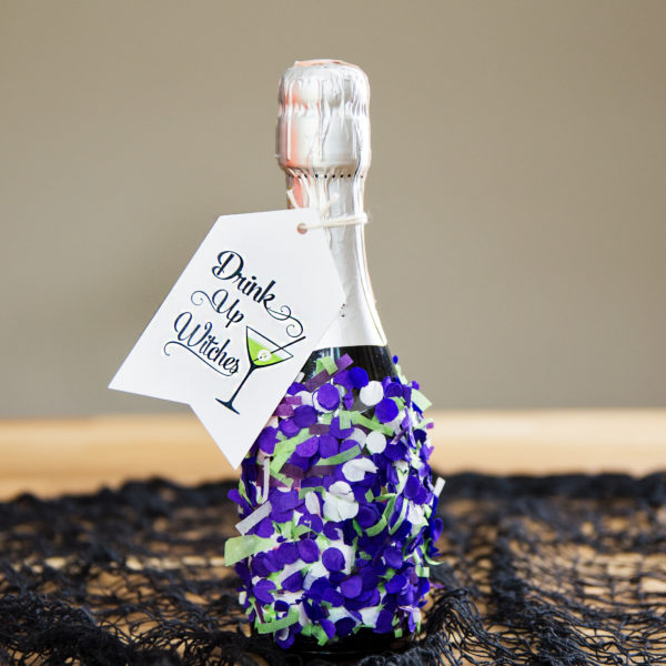 DIY Confetti Champagne Bottle | Fancy That