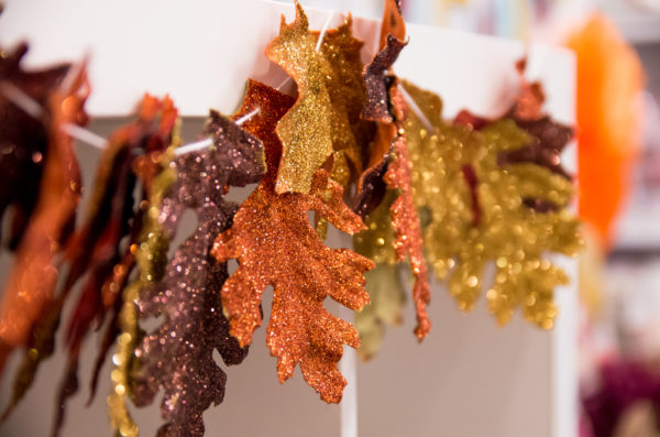 DIY Glitter Leaf Garland | Fancy That
