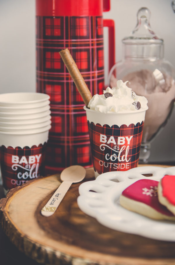 Hot cocoa cup wrap