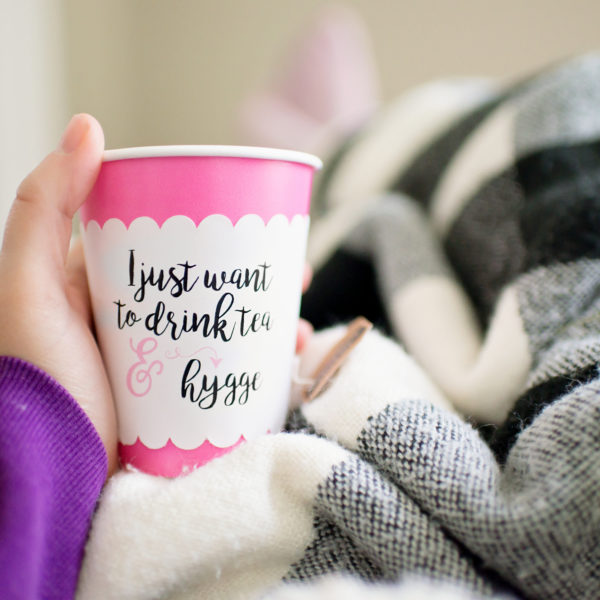 Drink Tea and Hygge Cup Sleeve | Fancy That