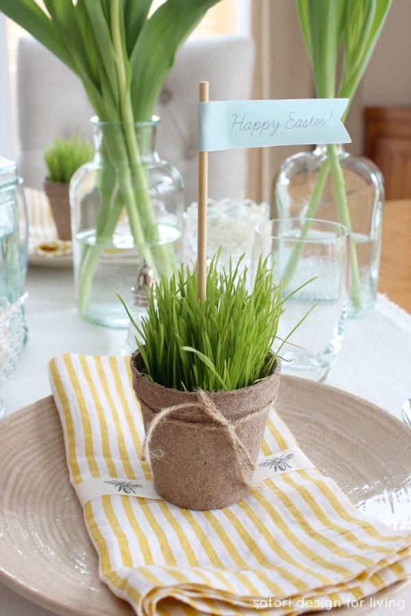 Simple easter table setting fancy that party gift spring also means that easter is on its way i love decorating my home for easter with fresh flowers and potted greens negle Image collections